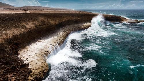 Die Klippen des Boca Tabla auf Curacao