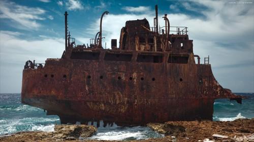 Schiffswrack auf Klein Curacao